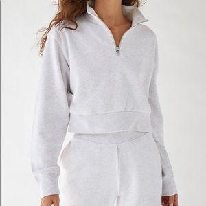 TNA airy fleece perfect 1/4 zip sweatshirt